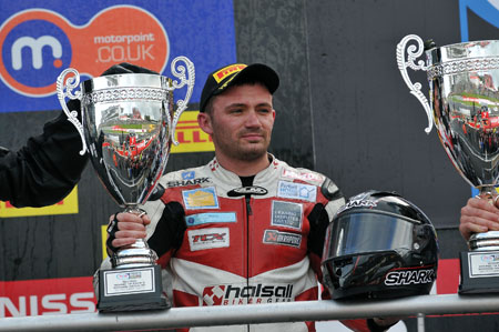 Lee Costello celebrated his first British Superbike podium at Brands Hatch